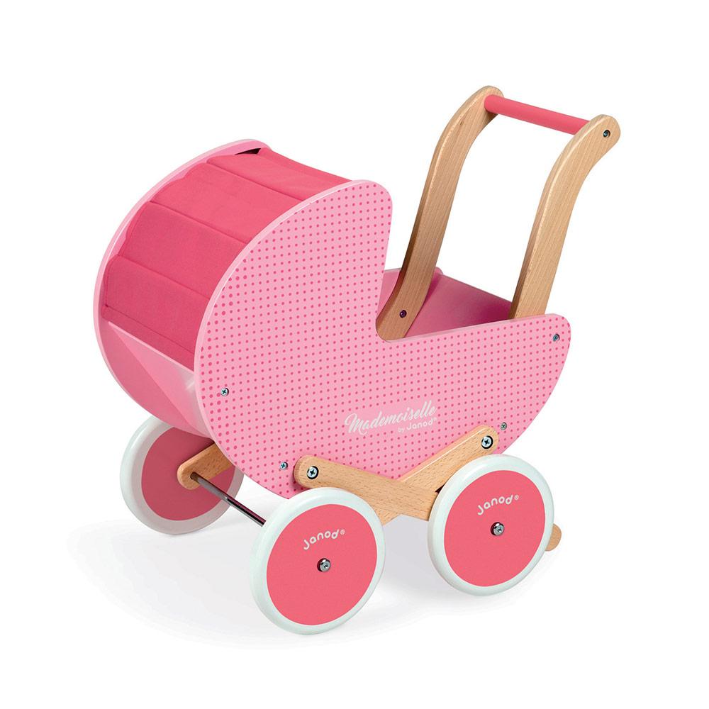 Drevený kočík pre bábiky Janod Mademoiselle