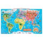 Magnetická mapa sveta Janod