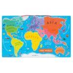 Janod magnetická drevená mapa sveta