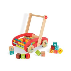 Janod drevené chodítko Tatoo Buggy s kockami