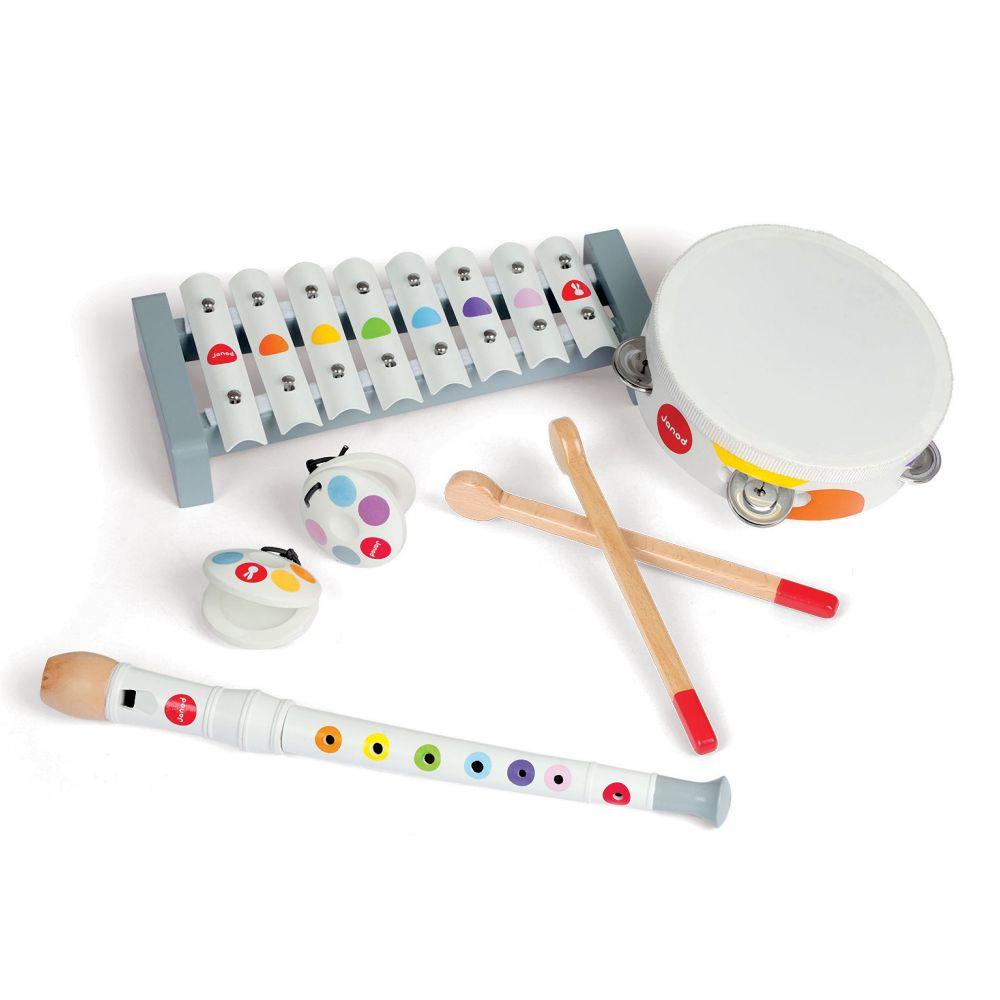 Drevené hudobné nástroje Janod - set