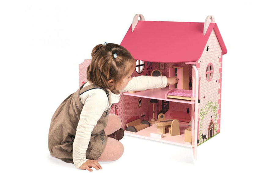 Drevený poschodový domček Janod