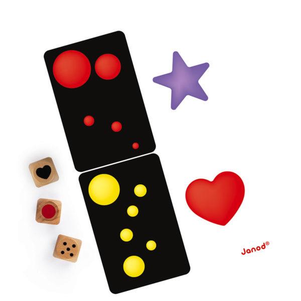 Detská kartová hra Rýchle farby Janod