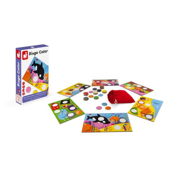 Spločenská hra Bingo Janod farby