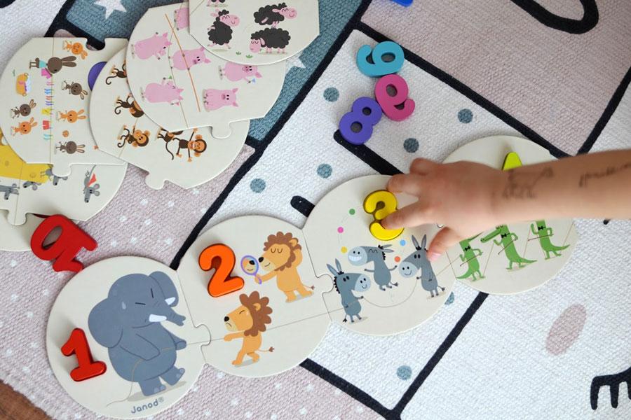 Vkladacie puzzle Čísla janod