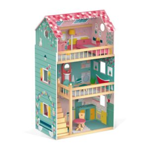 972f66701 Drevený domček pre bábiky Barbie Happy Day Janod 12 ks nábytku